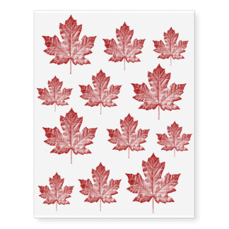 Cool Canada Temporary Tattoo Canada Flag Skin Art