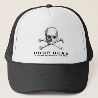 Cool Cap with Drop Dead Text and Skull Print