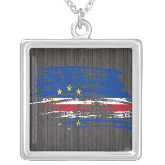 Cool Cape Verdian flag design Silver Plated Necklace