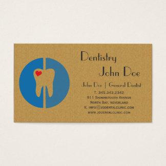 Cool cardboard dental logo business card