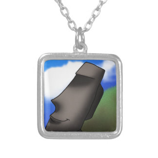 Cool Cartoon Easter Island Moai Head Personalized Necklace