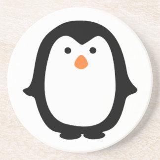 Cool Cartoon Penguin Beverage Coaster