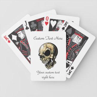 Cool cartoon tattoo symbol evil ink skull bicycle poker deck