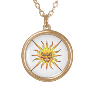 Cool cartoon tattoo symbol evil Sun face Jewelry