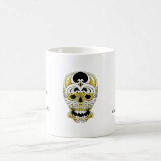 Cool cartoon tattoo symbol gothic ornament skull mug