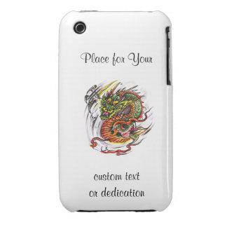 Cool cartoon tattoo symbol oriental Dragon iPhone 3 Case-Mate Cases