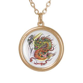 Cool cartoon tattoo symbol oriental Dragon Necklaces