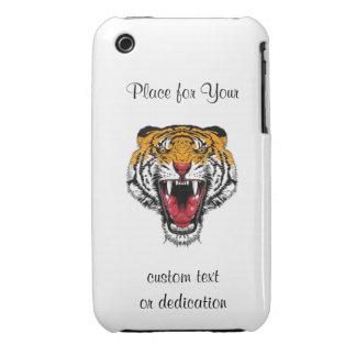Cool cartoon tattoo symbol roaring feral tiger Case-Mate iPhone 3 case