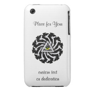 Cool cartoon tattoo symbol Third Eye Wisdom iPhone 3 Cover