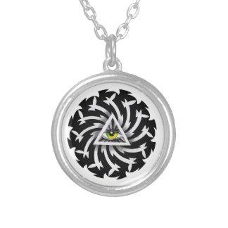 Cool cartoon tattoo symbol Third Eye Wisdom Custom Jewelry
