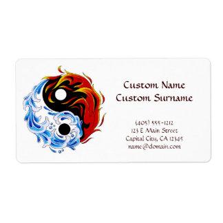 Cool cartoon tattoo symbol water fire Yin Yang