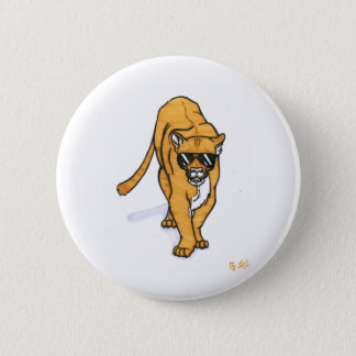 cool cat 6 cm round badge