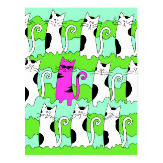 Cool Cat Art Postcard