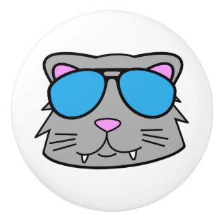 Cool Cat Ceramic Knob