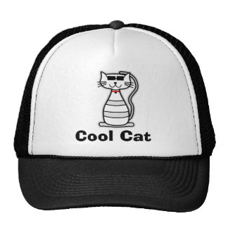 Cool Cat cute cartoon cat with sunglasses Hat
