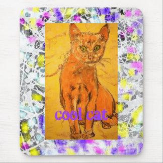 cool cat drip slogan mouse pad