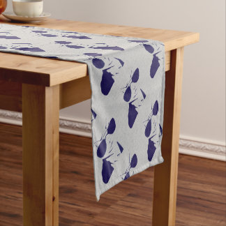 Cool Cat in Blue Short Table Runner