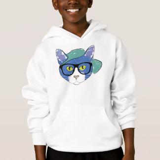 Cool Cat In Hat Kids' Hanes ComfortBlend® Hoodie