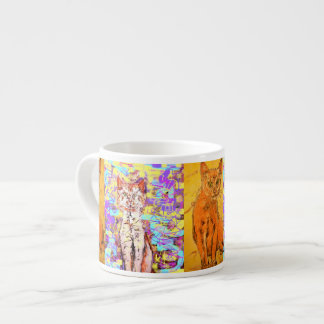 cool cat popart collage espresso cup
