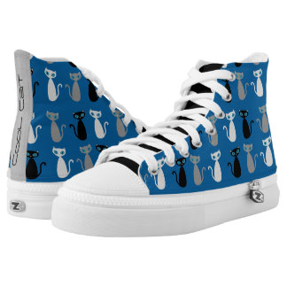 Cool Cat Shoes - blue Printed Shoes