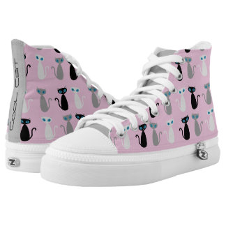 Cool Cat Shoes - pink Printed Shoes