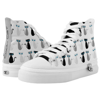 Cool Cat Shoes - white Printed Shoes