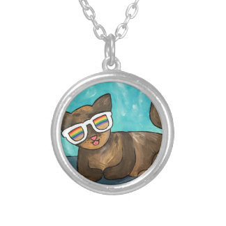 Cool Cat Silver Plated Necklace