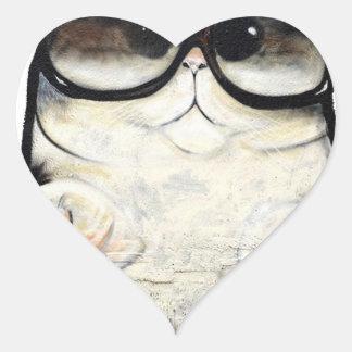 Cool Cat Heart Sticker