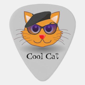 Cool Cat Sunglasses Optional Beret Custom Color Guitar Pick