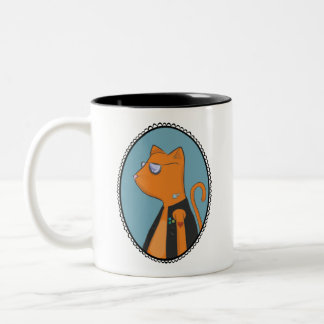 Cool Cat Two-Tone Coffee Mug