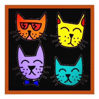 Cool Cats Invitations