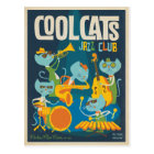 Cool Cats Jazz Postcard