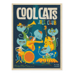 Cool Cats Jazz Postcard