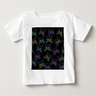 Cool Cats on Black! Multi-colored Cats Baby T-Shirt