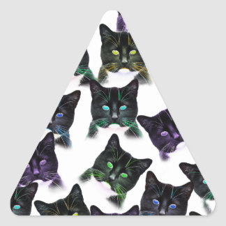 Cool Cats Triangle Sticker