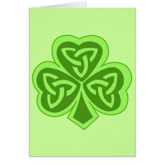 Cool Celtic Knot Shamrock Card