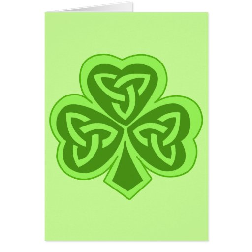 Cool Celtic Knot Shamrock Greeting Card