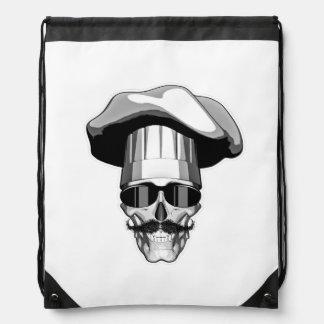 Cool Chef Skull v3 Cinch Bag