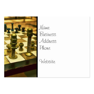 Cool Chess Board with Nuts and Bolts Business Card Templates
