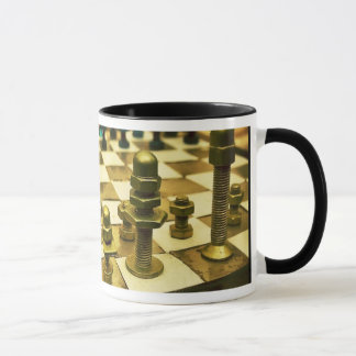 Cool Chess Board with Nuts and Bolts Mug