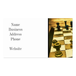 Cool Chess Board with Nuts and Bolts Pack Of Standard Business Cards