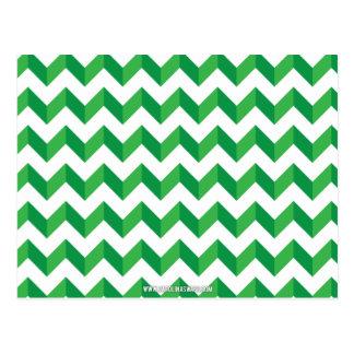 Cool Chevron Zig Zag Green Postcard