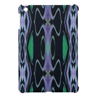 Cool Chic Artistic Purple Green Uncommon Pattern Cover For The iPad Mini