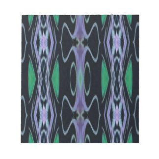 Cool Chic Artistic Purple Green Uncommon Pattern Notepads