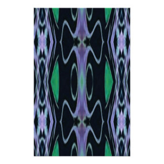 Cool Chic Artistic Purple Green Uncommon Pattern Stationery