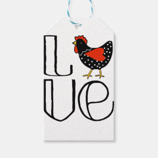 Cool Chicken Love Art Gift Tags