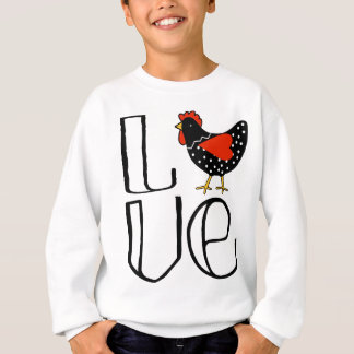 Cool Chicken Love Art Sweatshirt
