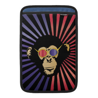 Cool Chimpanzee in 3d Glasses MacBook Sleeves