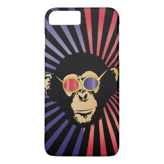 Cool Chimpanzee In 3D Glasses iPhone 7 Plus Case