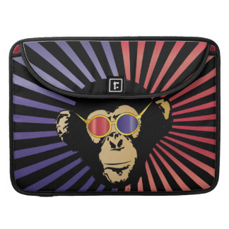 Cool Chimpanzee in 3d Glasses Sleeves For MacBooks